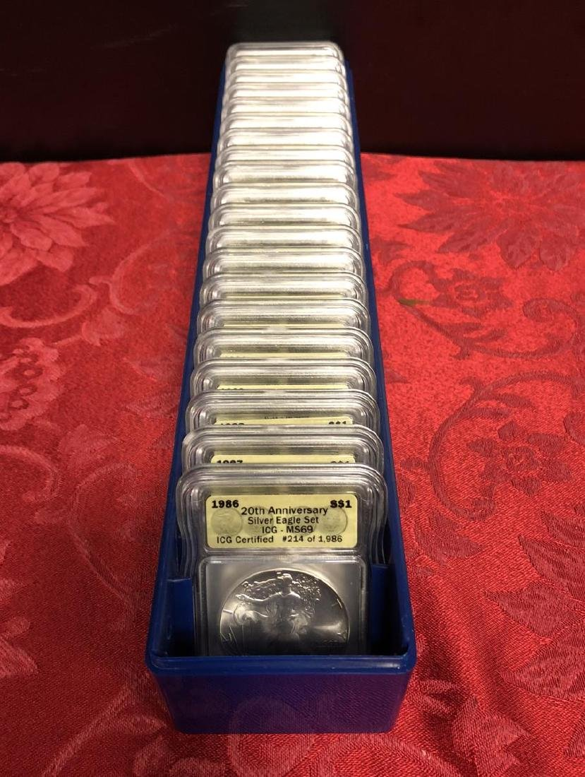 1986-2005 Silver Eagle 20th Anniv. Set ICG MS69 - 3