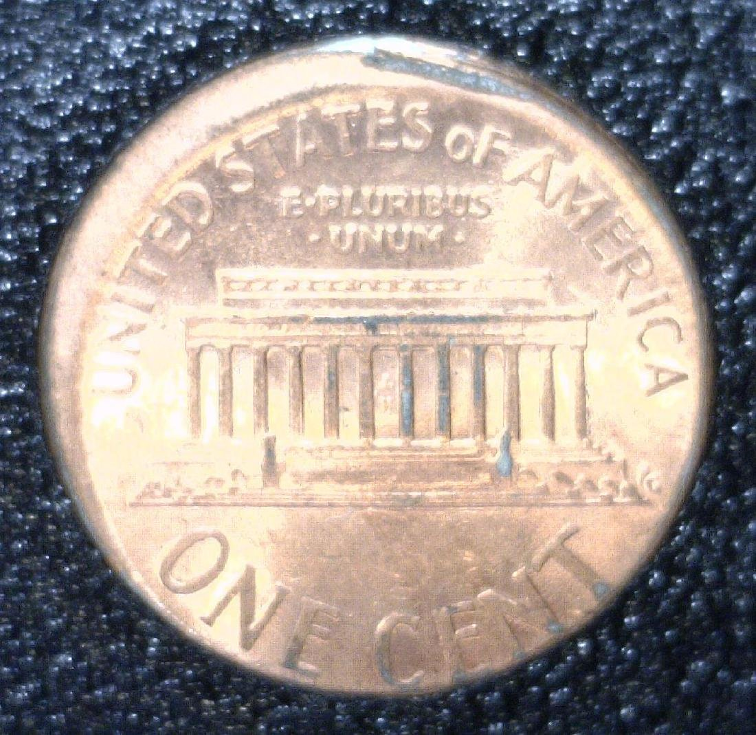 Off Center Lincoln Penny in Special Metal Case - 3