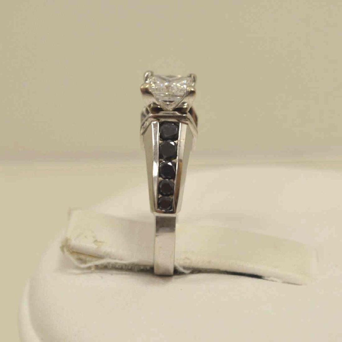 14kt black and white diamond engagement ring - 4