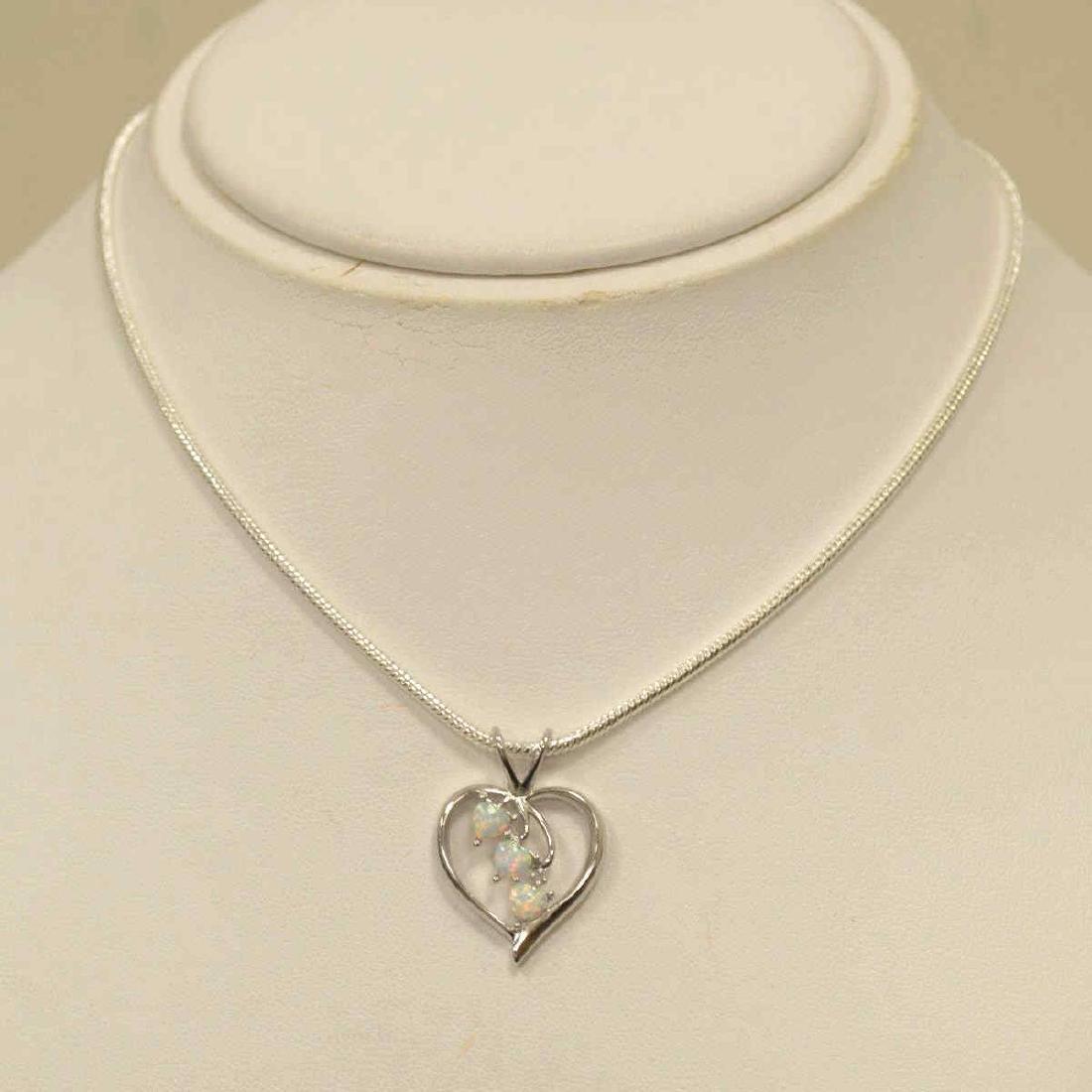 Sterling SIlver opal pendant