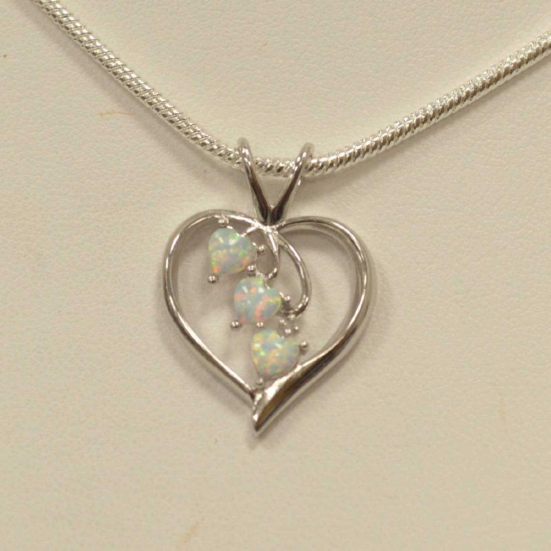 Sterling SIlver opal pendant - 2