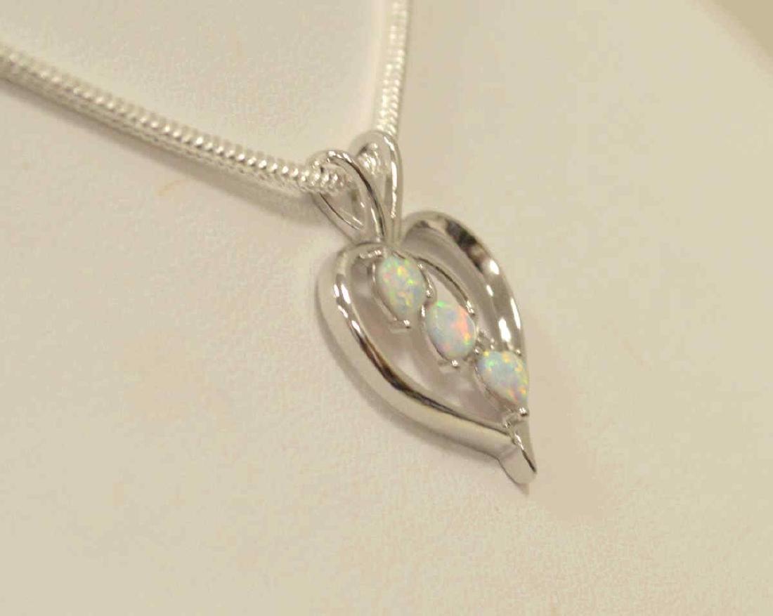 Sterling SIlver opal pendant - 3