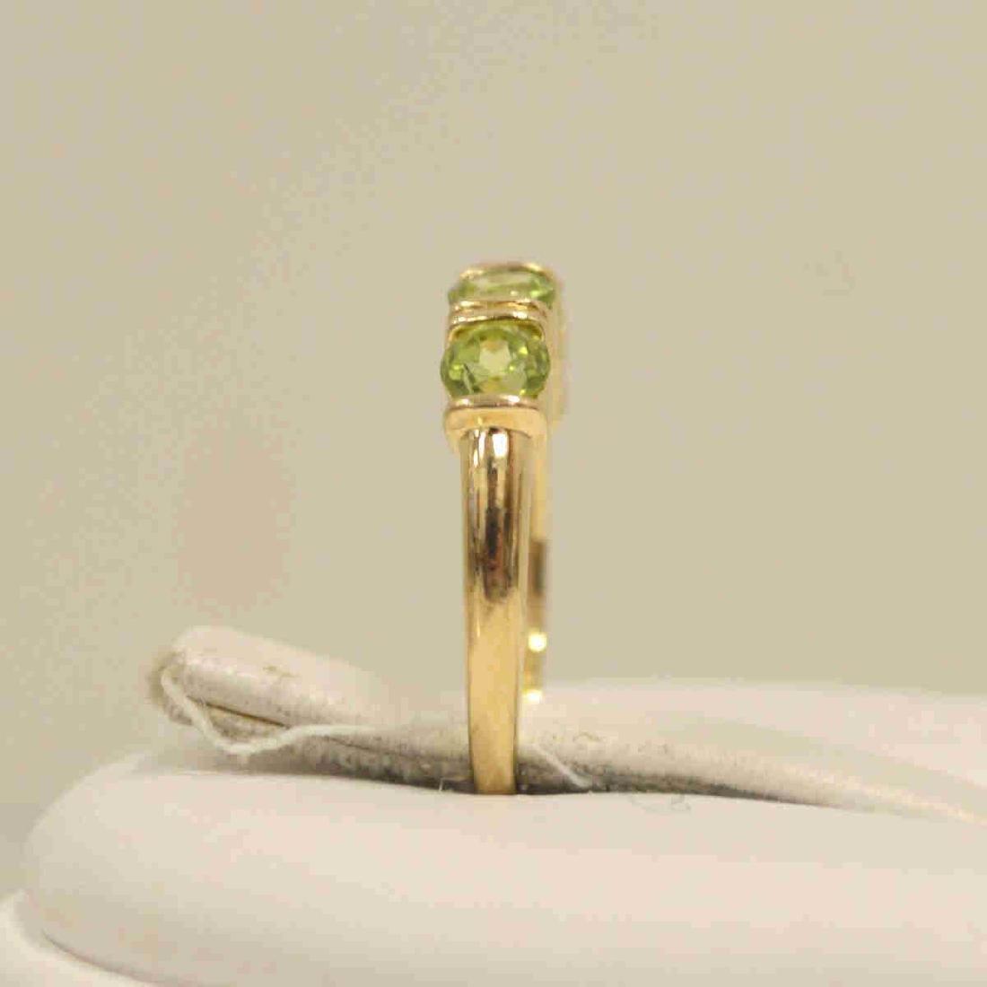 14kt yellow gold peridot fashion band - 4