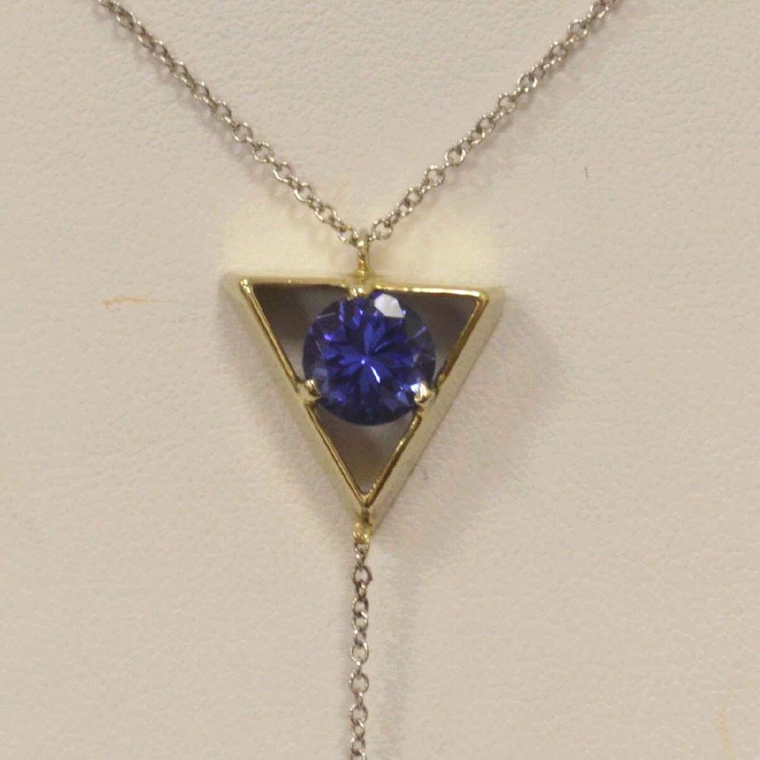 14kt white gold Tanzanite pendant