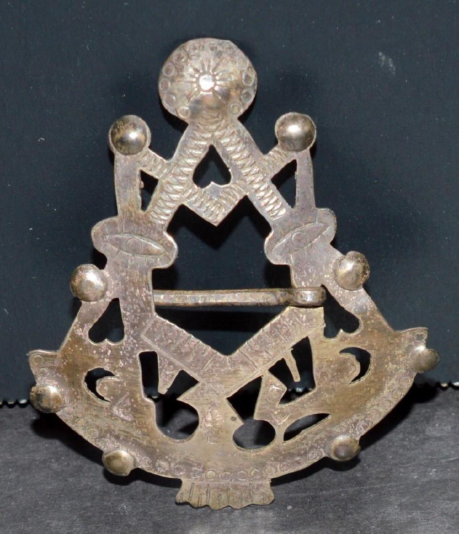 Council Fire Native American Trade Silver Brooch
