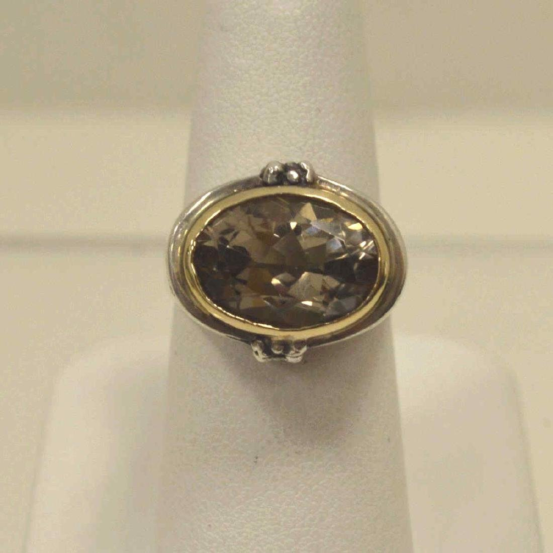 Sterling and 14kt Michael Dawkins ring