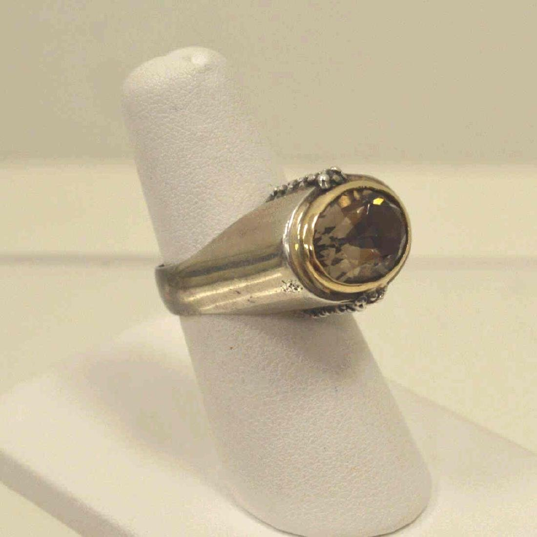 Sterling and 14kt Michael Dawkins ring - 2