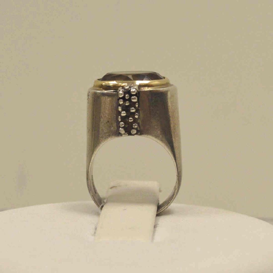 Sterling and 14kt Michael Dawkins ring - 3