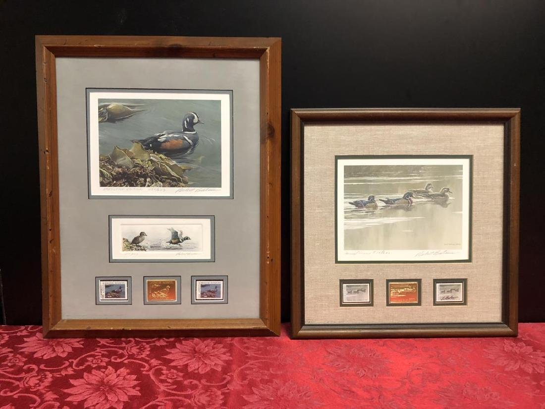 Lot of 2 Framed Duck Stamp Print by Robert Bateman