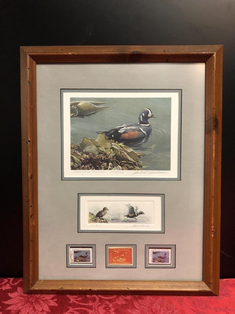 Lot of 2 Framed Duck Stamp Print by Robert Bateman - 2