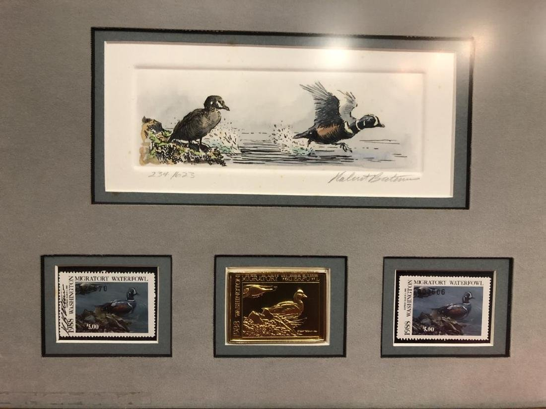 Lot of 2 Framed Duck Stamp Print by Robert Bateman - 4