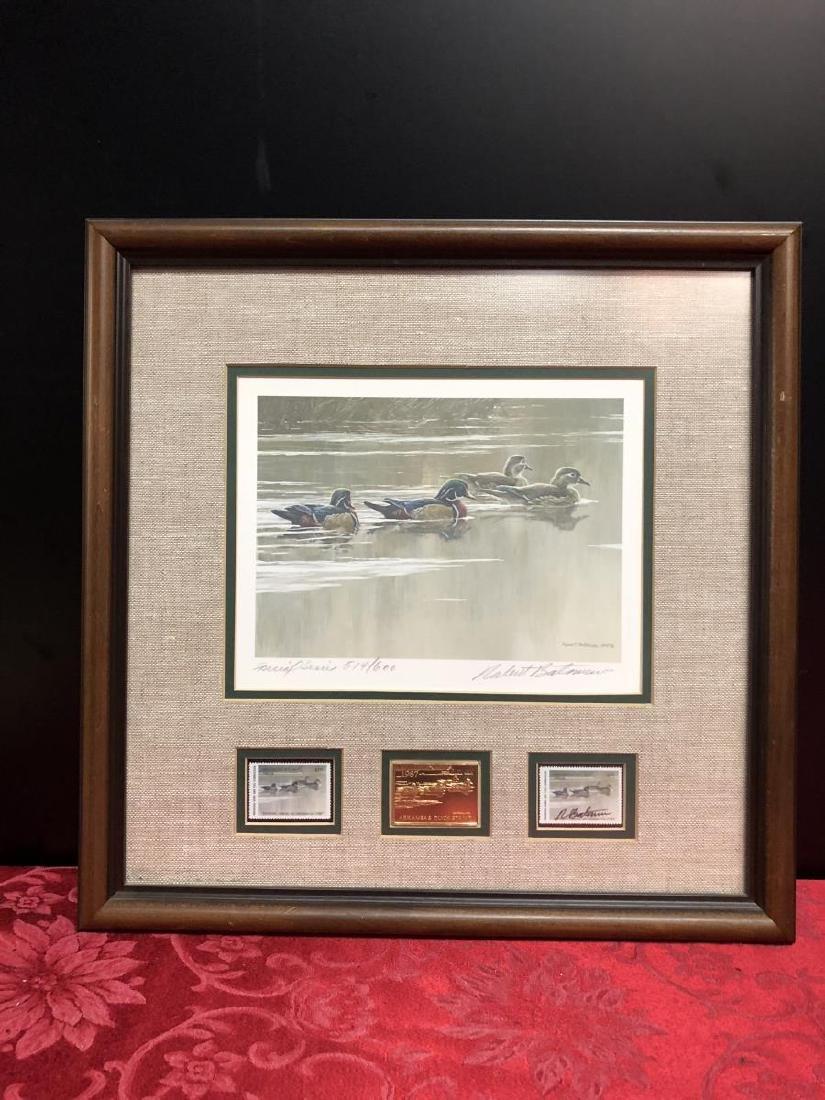 Lot of 2 Framed Duck Stamp Print by Robert Bateman - 6