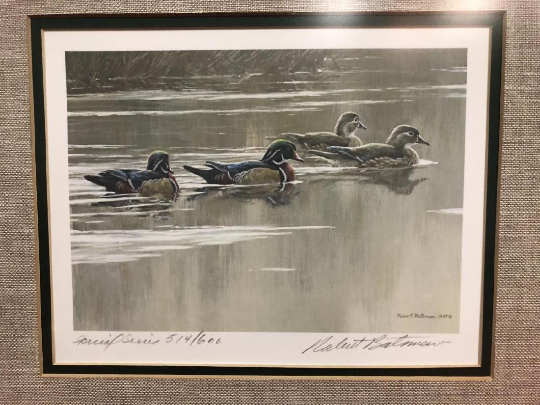 Lot of 2 Framed Duck Stamp Print by Robert Bateman - 7