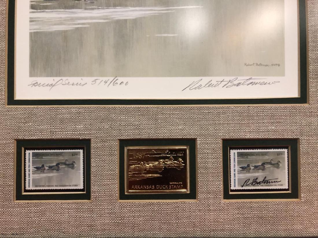 Lot of 2 Framed Duck Stamp Print by Robert Bateman - 8