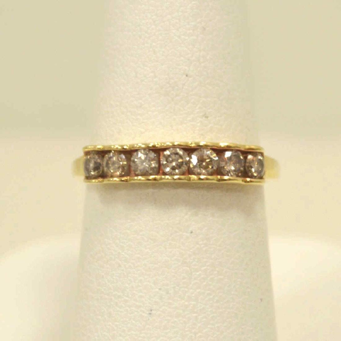10kt yellow gold diamond band