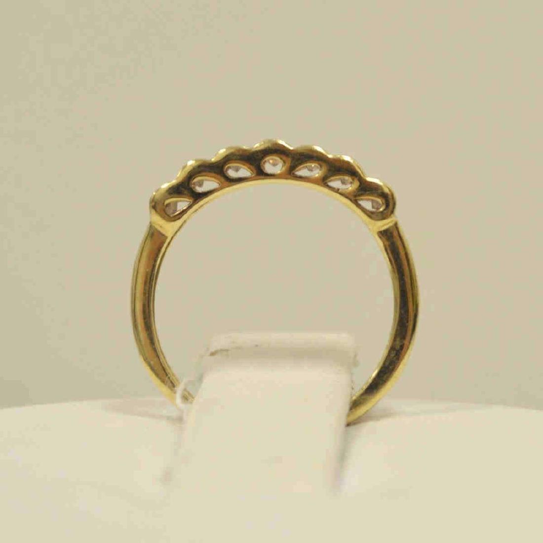 10kt yellow gold diamond band - 3