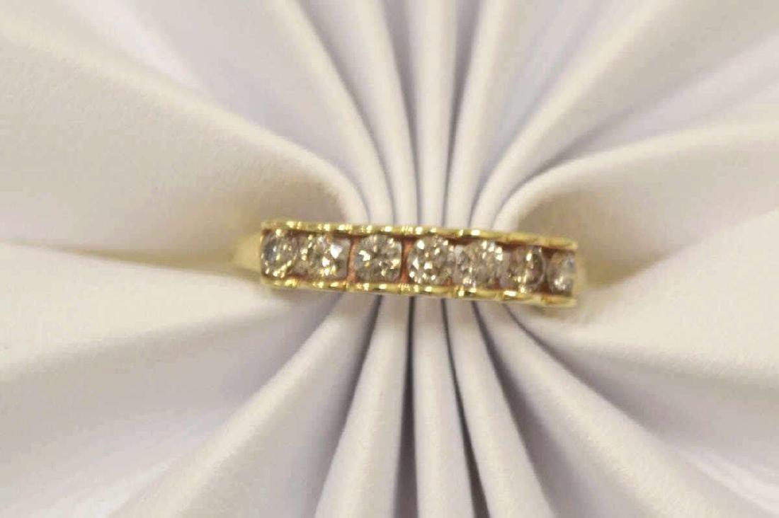 10kt yellow gold diamond band - 5
