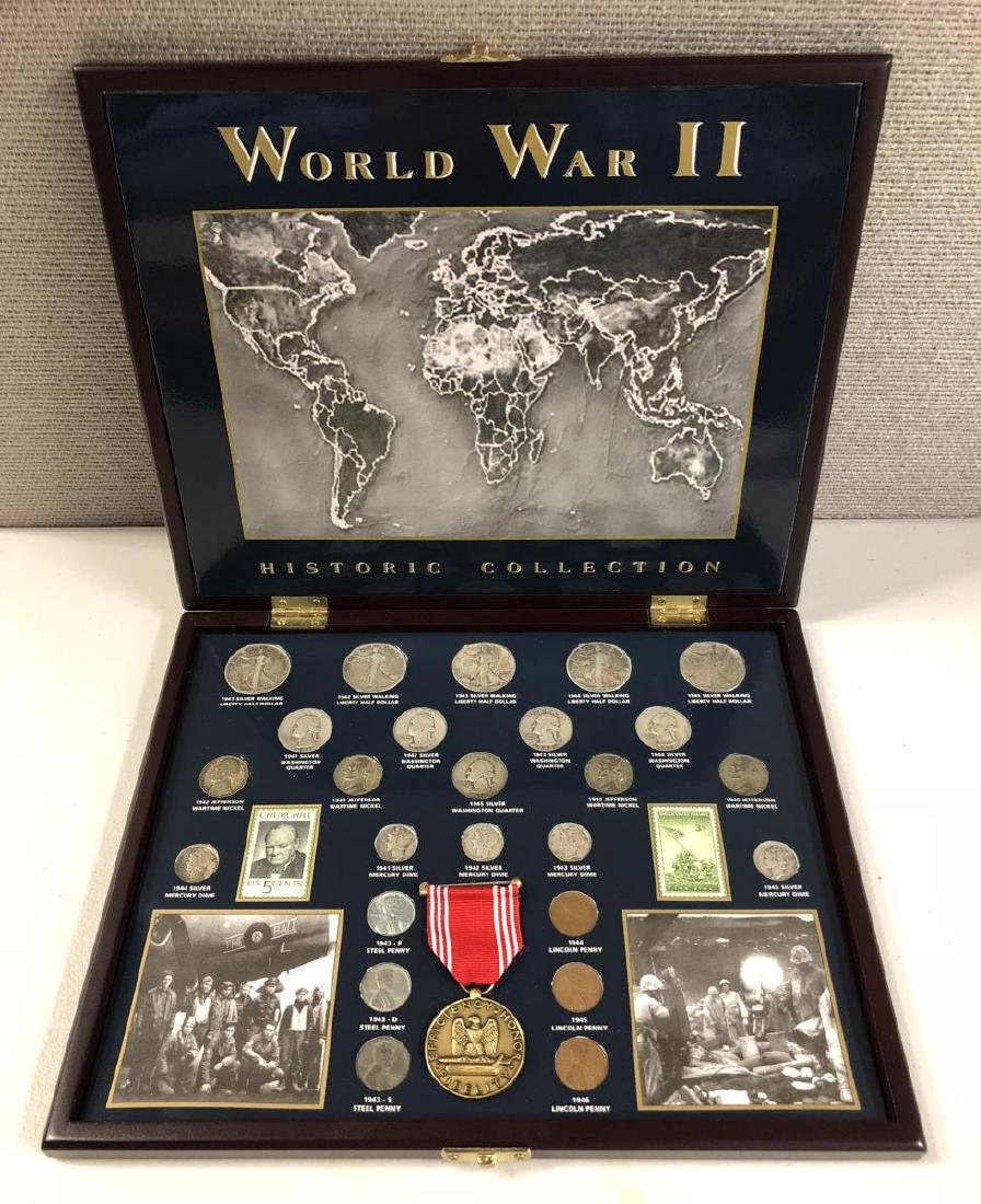 World War II Historical Coin Collection w/Medal