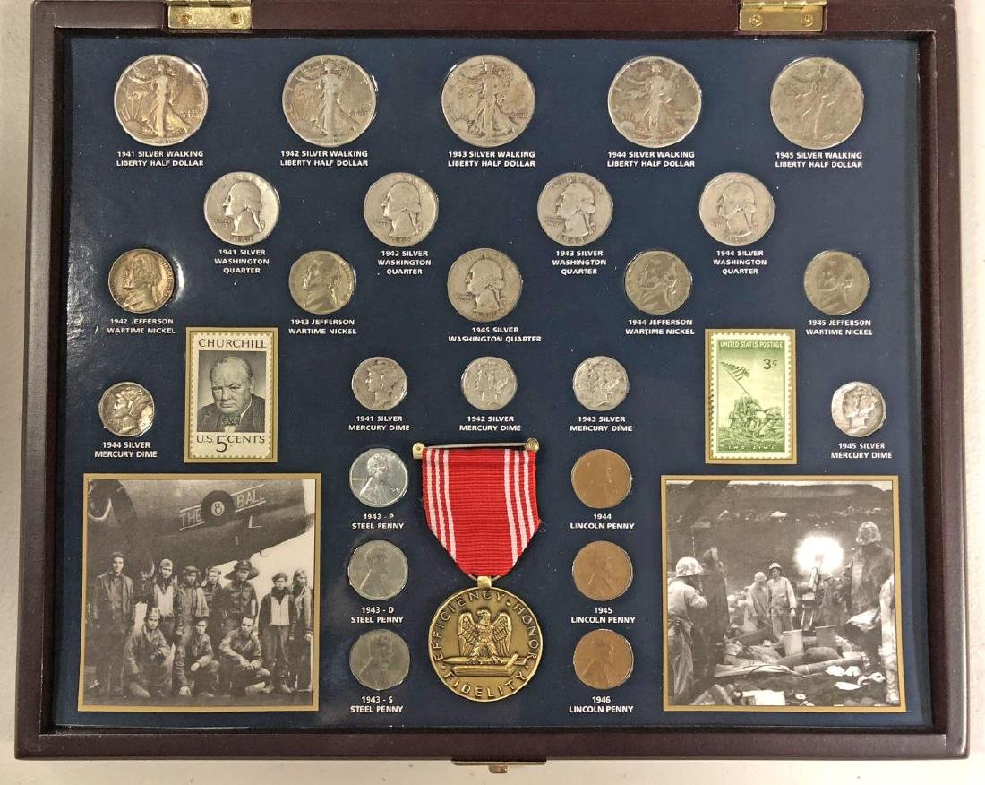 World War II Historical Coin Collection w/Medal - 2