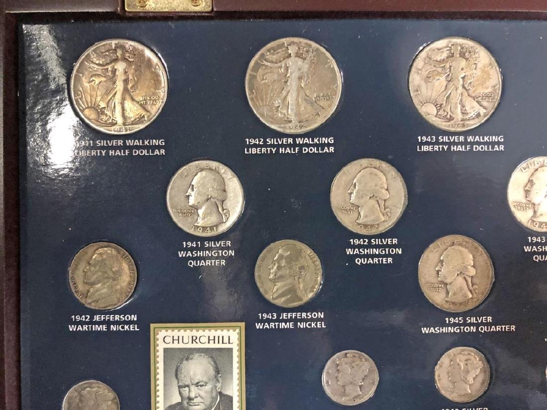 World War II Historical Coin Collection w/Medal - 3