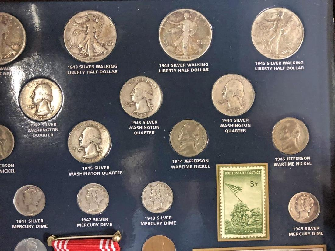 World War II Historical Coin Collection w/Medal - 4