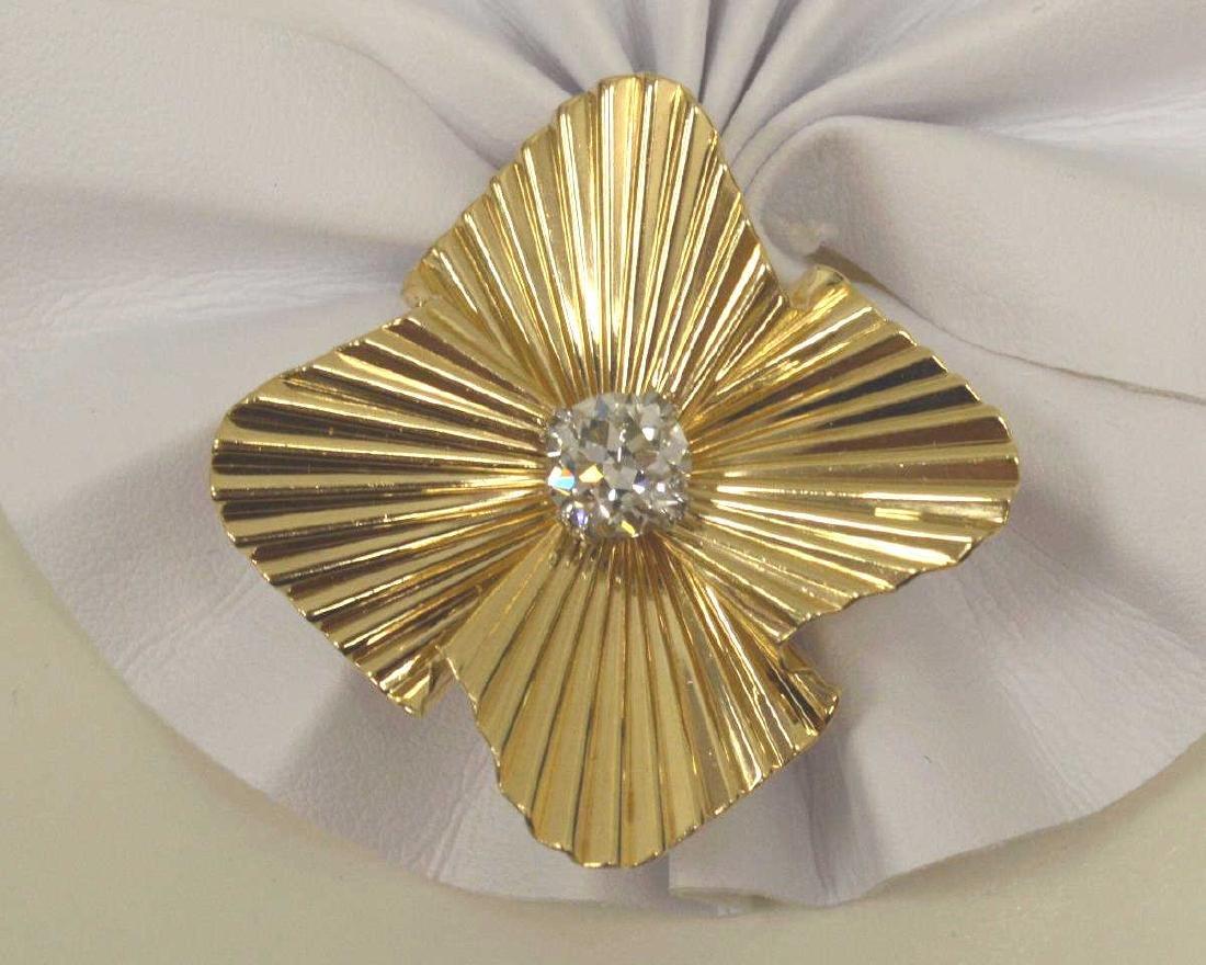 14kt Old European cut diamond pendant by Tiffany