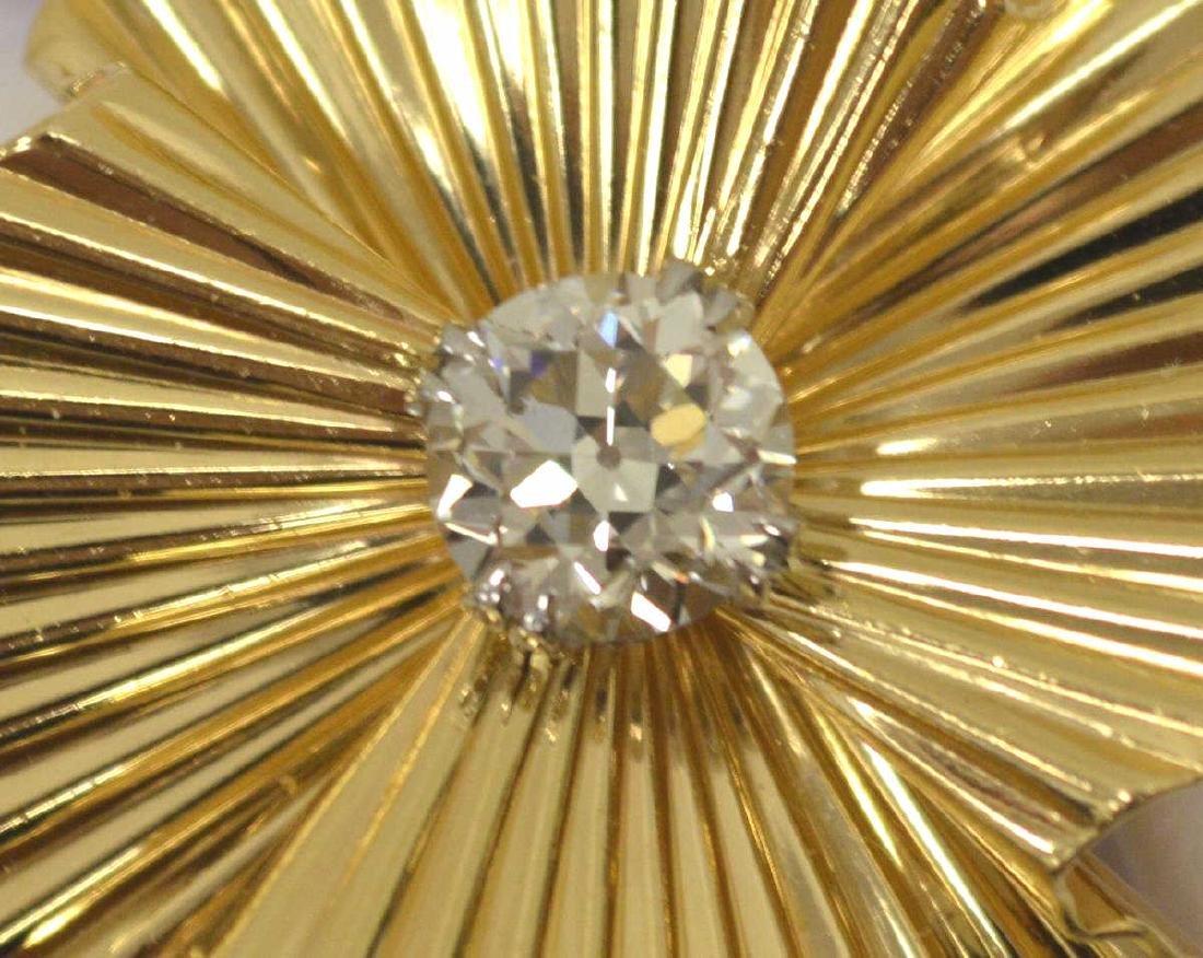 14kt Old European cut diamond pendant by Tiffany - 2