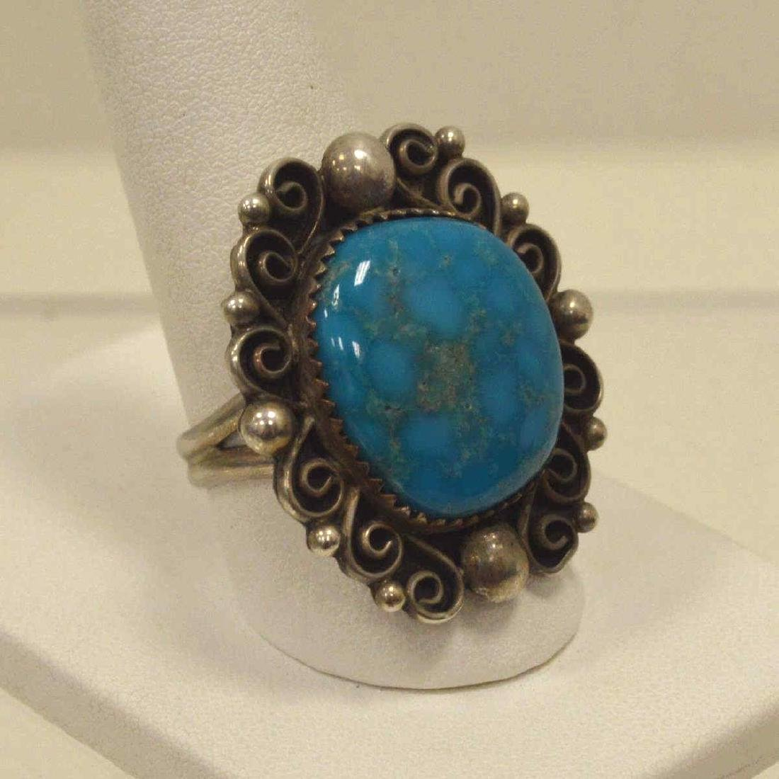 Sterling silver turquoise ring - 2