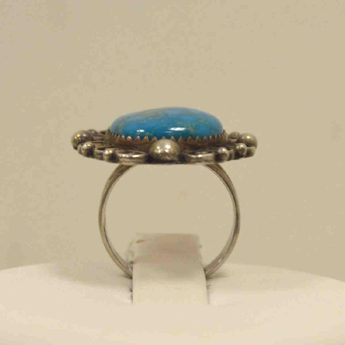 Sterling silver turquoise ring - 3