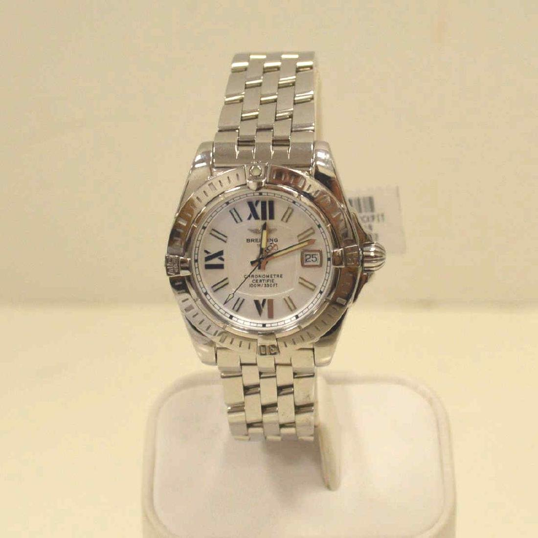 """Ladies Stainless Breitling """"Cockpit"""" Watch"""