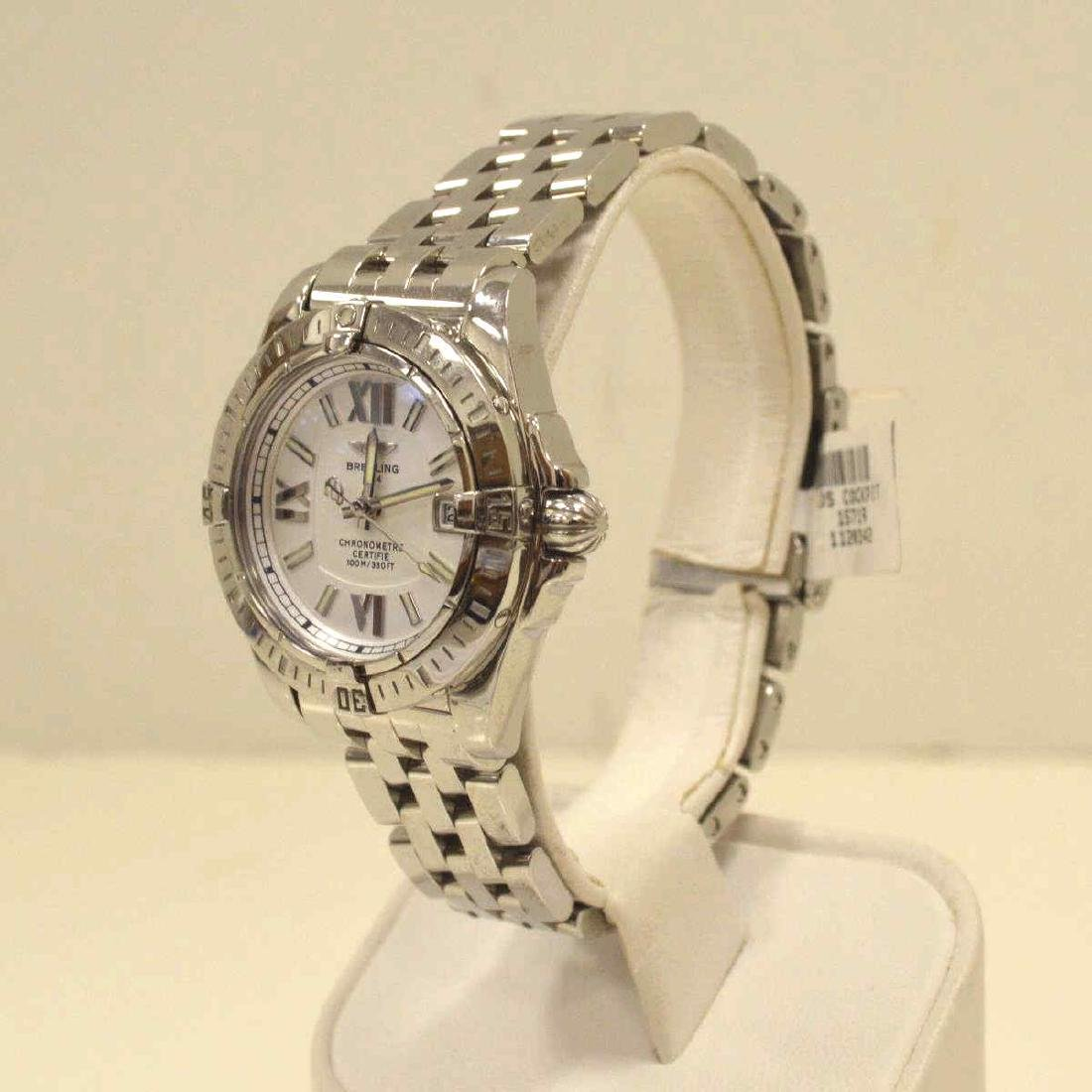 """Ladies Stainless Breitling """"Cockpit"""" Watch - 3"""