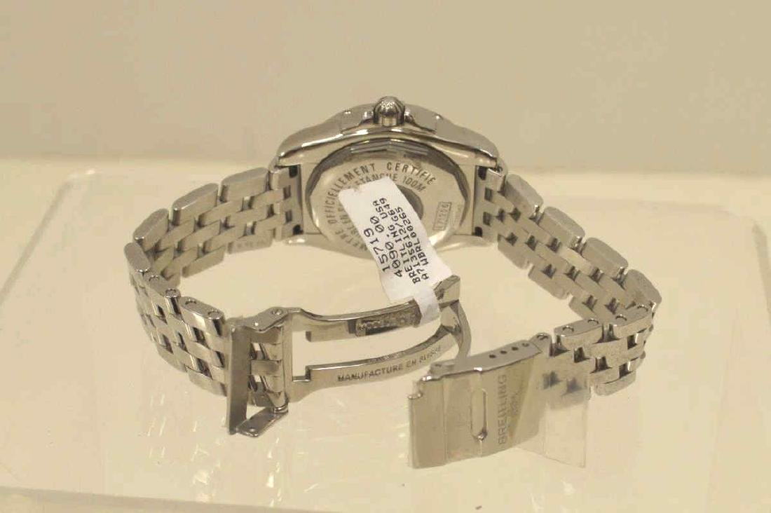 """Ladies Stainless Breitling """"Cockpit"""" Watch - 4"""