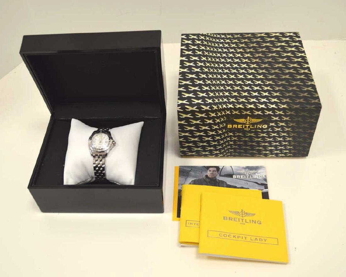 """Ladies Stainless Breitling """"Cockpit"""" Watch - 6"""