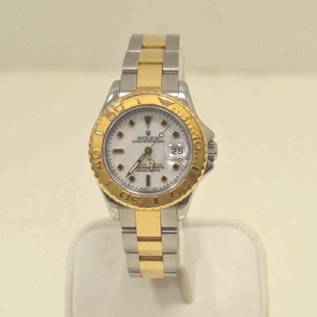 Ladies two tone Rolex Yatchmaster Watch