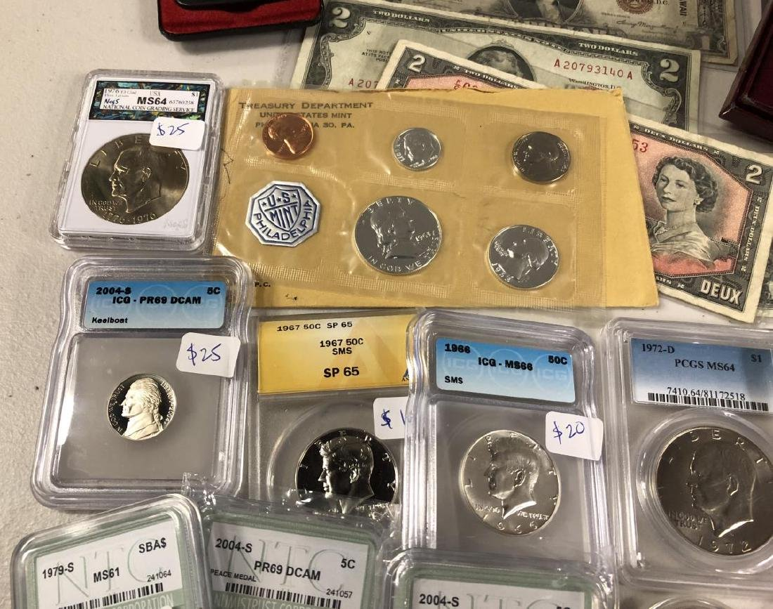 Awesome Coin Collection Lot Silver Slabs Proofs - 4