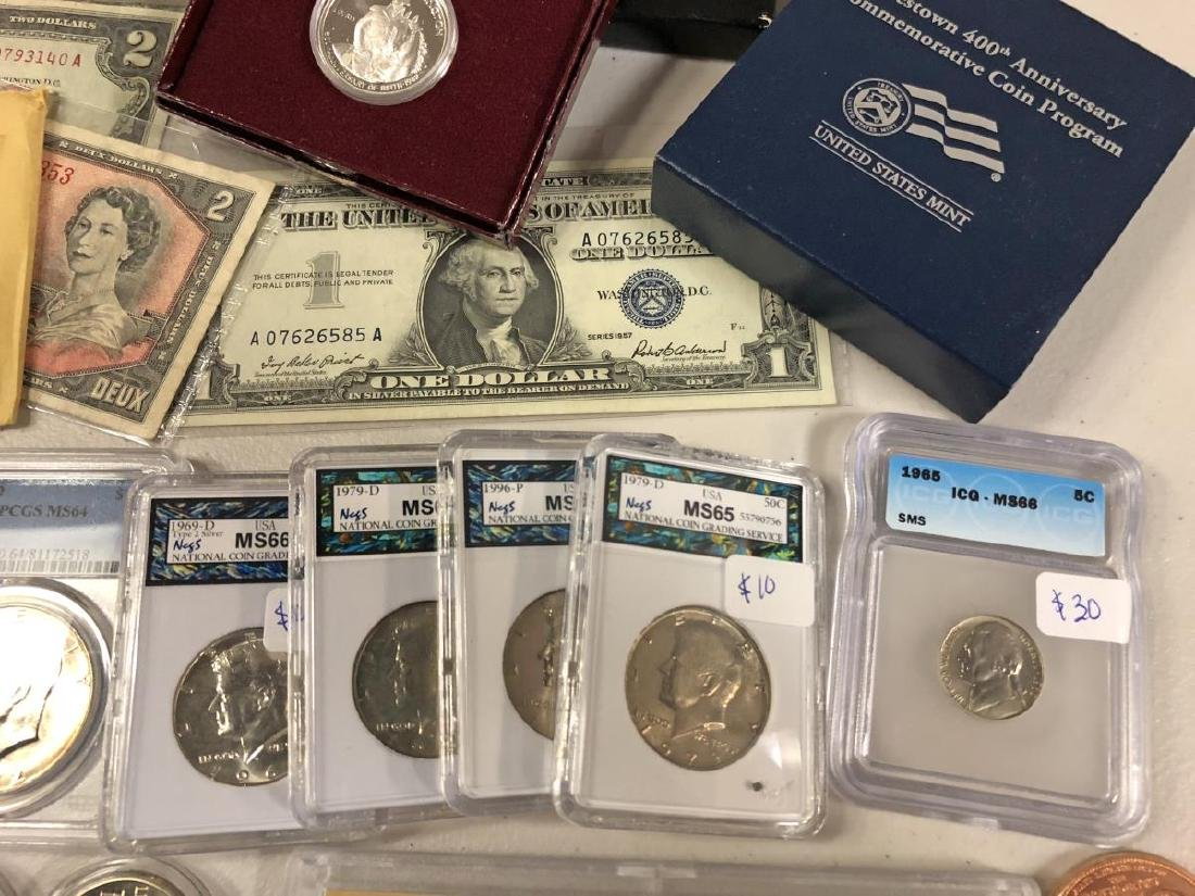Awesome Coin Collection Lot Silver Slabs Proofs - 5