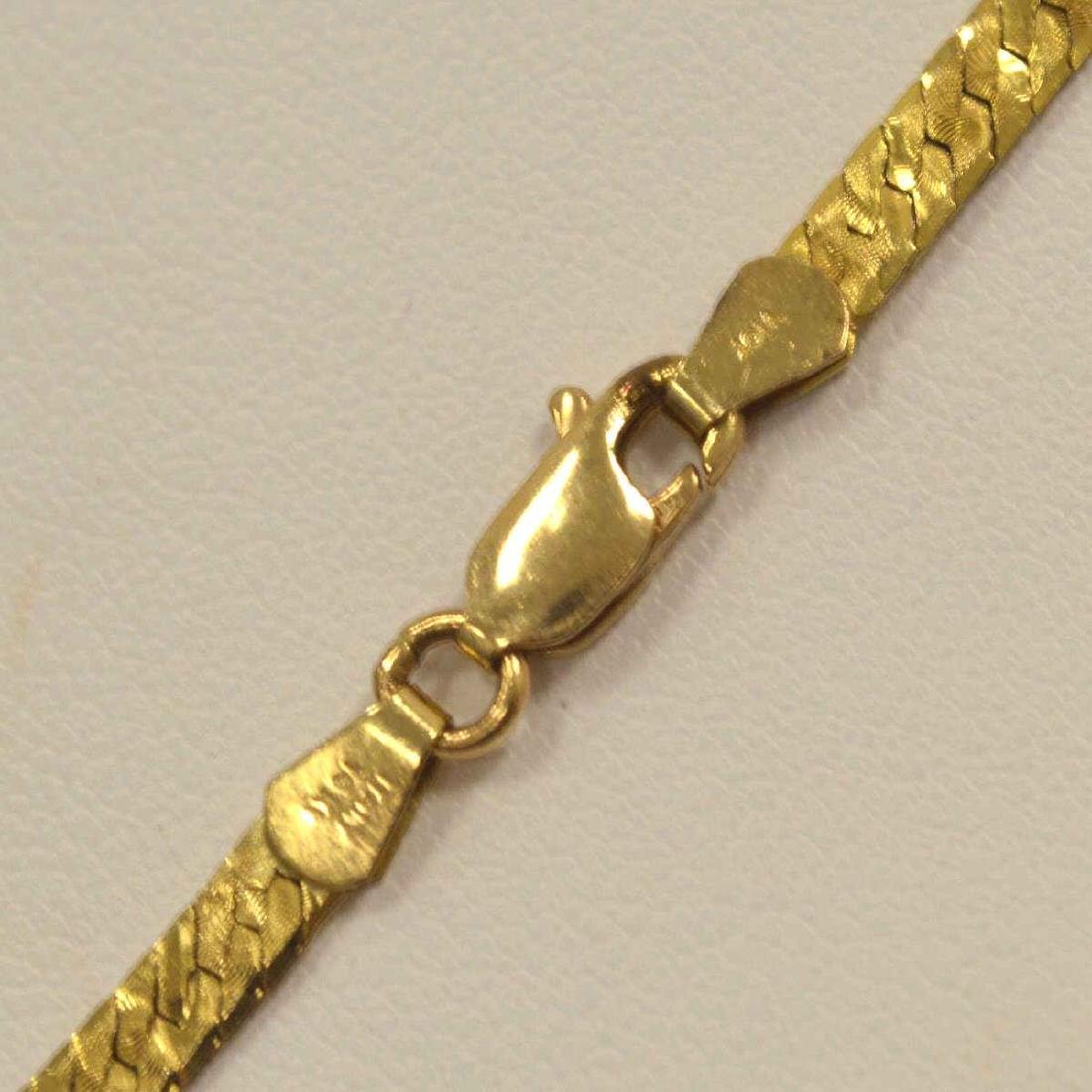 14kt yellow gold herringbone necklace - 3