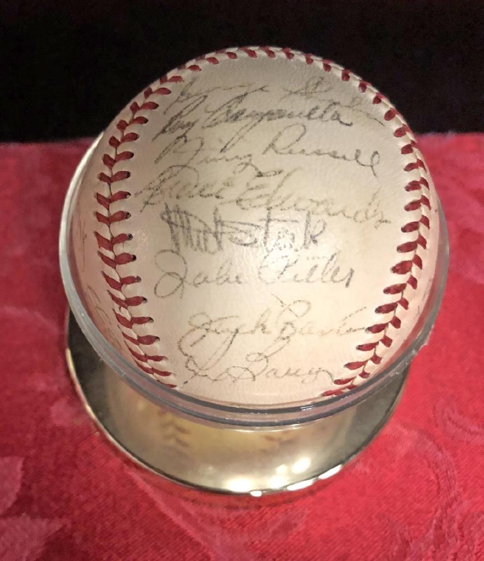1950-1951 Brooklyn Dodgers Team Signed Baseball - 2