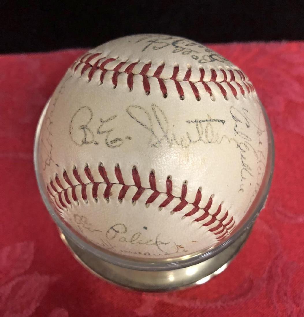 1950-1951 Brooklyn Dodgers Team Signed Baseball - 4