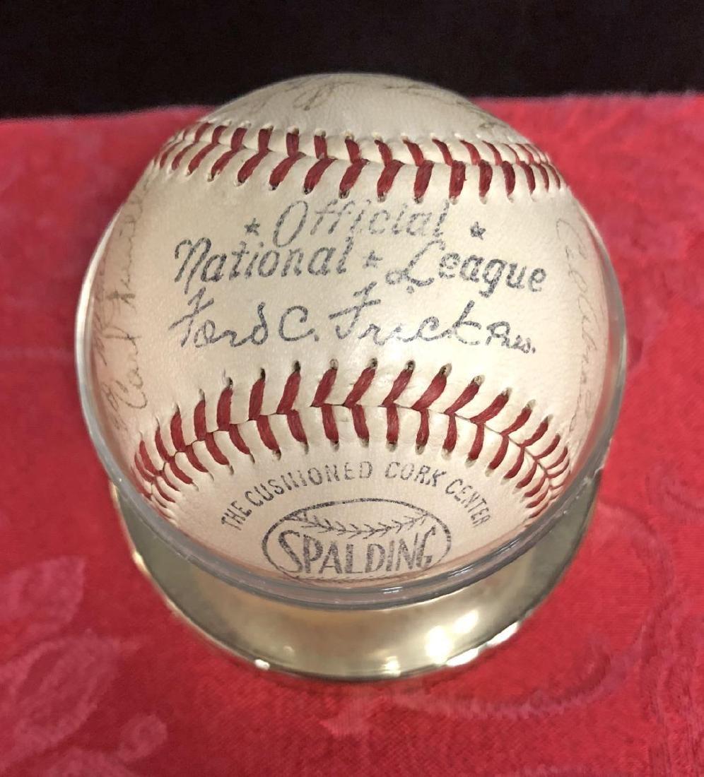 1950-1951 Brooklyn Dodgers Team Signed Baseball - 5