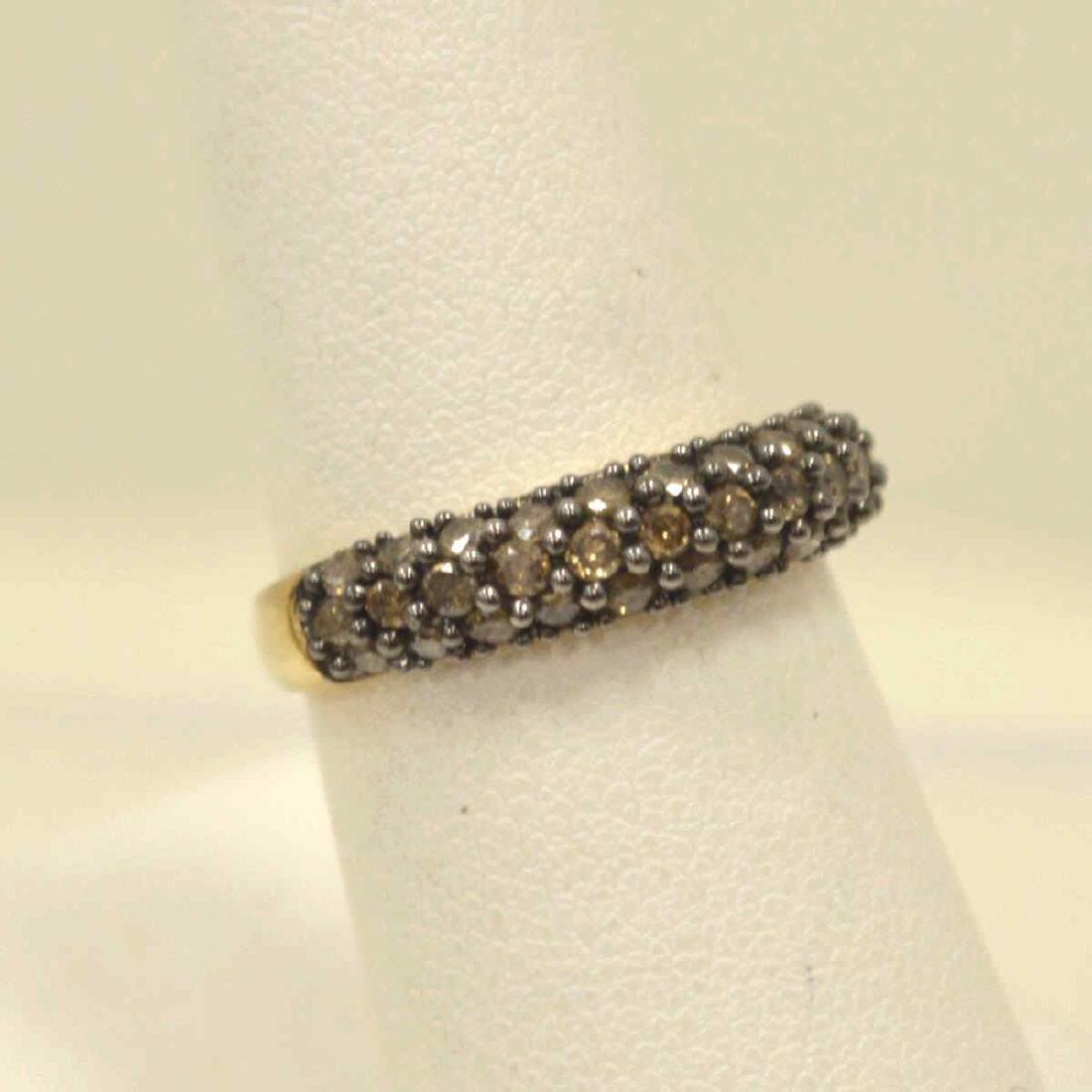10kt yellow gold diamond fashion band - 2