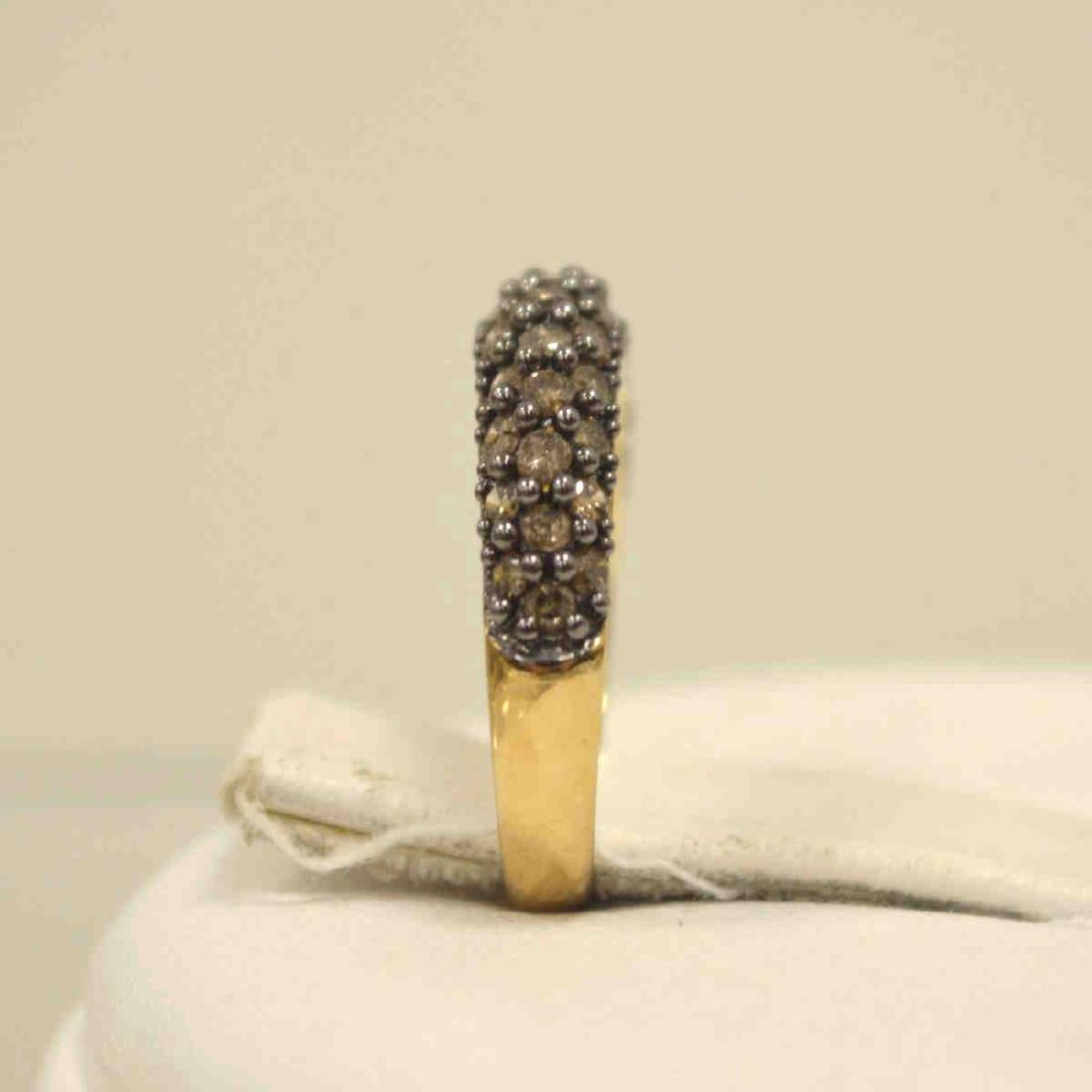 10kt yellow gold diamond fashion band - 4