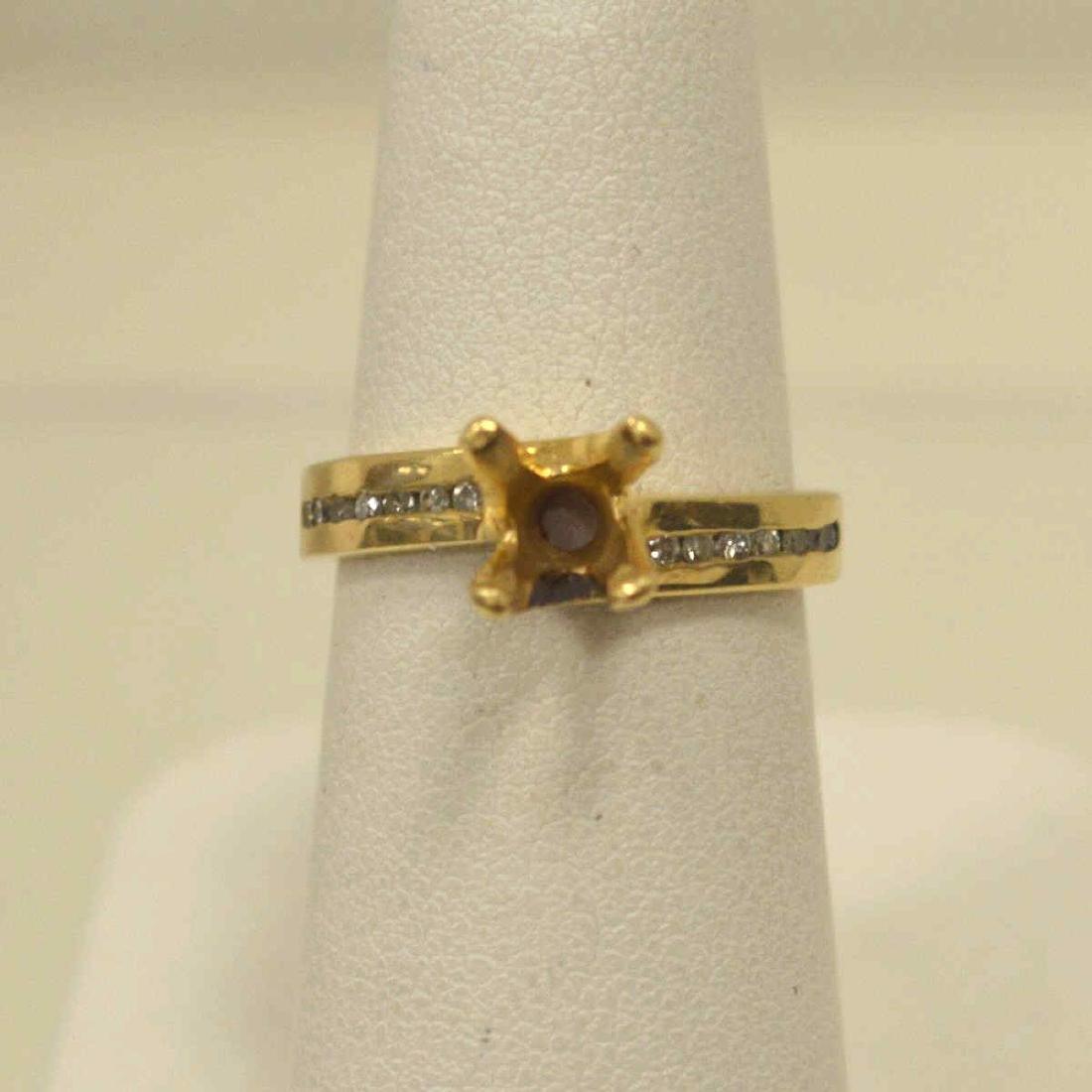 14kt yellow gold diamond semi-mount