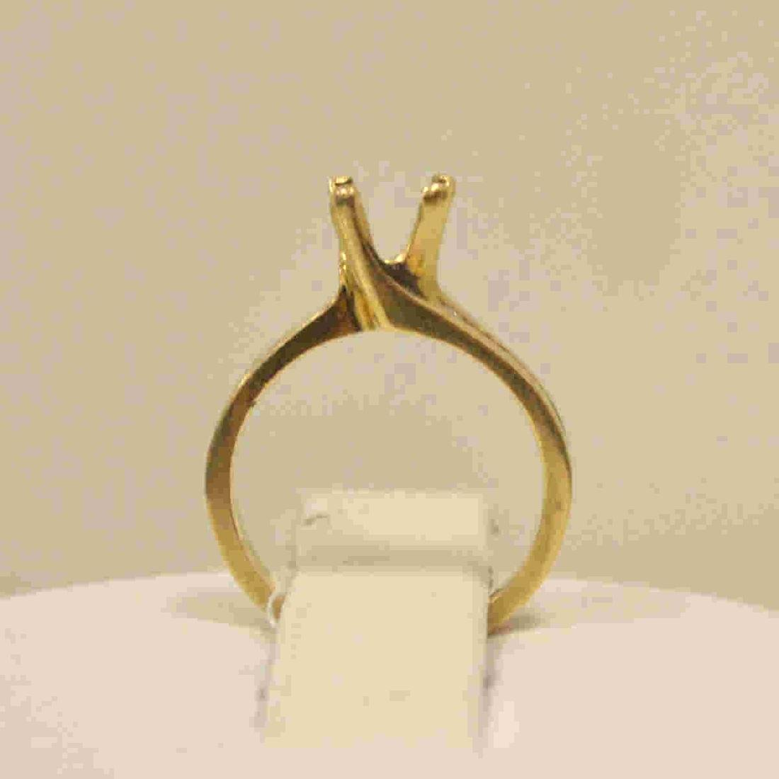 14kt yellow gold diamond semi-mount - 3