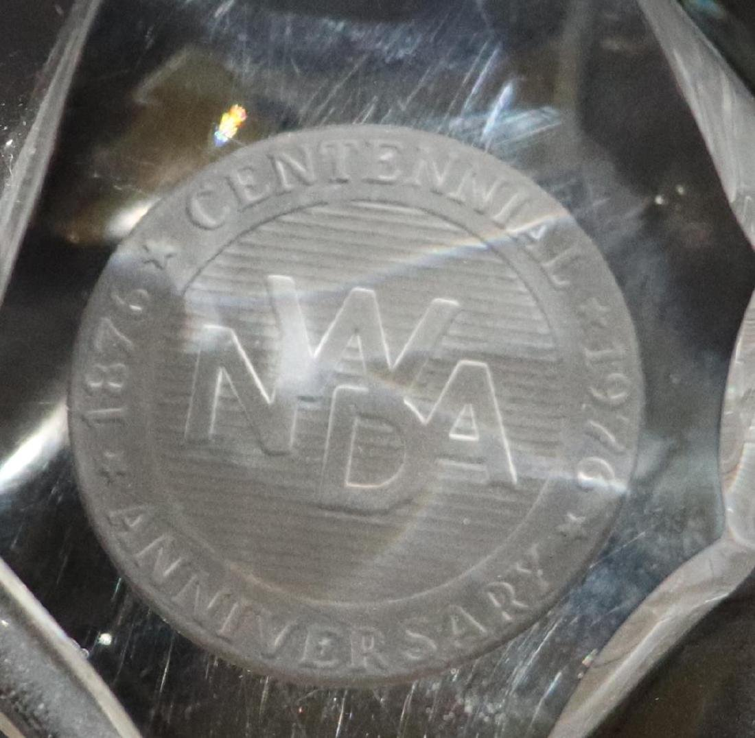 4 Glass Paperweights: Tiffany, Steuben, Avon &MVS1 - 9