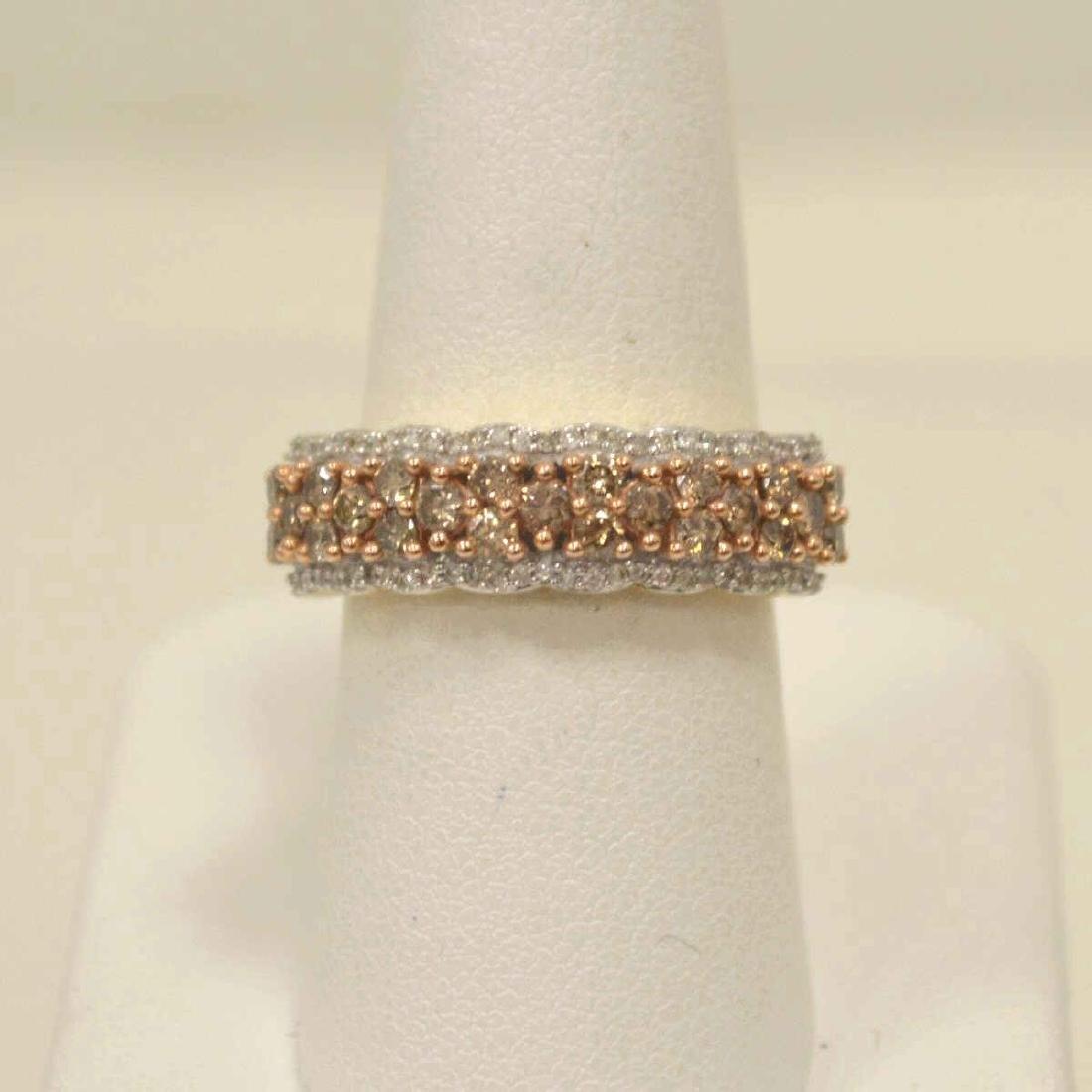 10kt yellow gold diamond fashion band