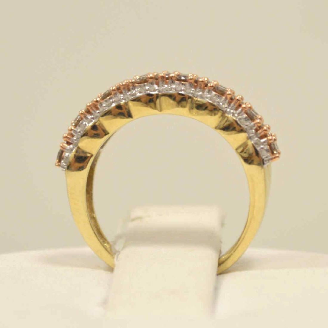 10kt yellow gold diamond fashion band - 3