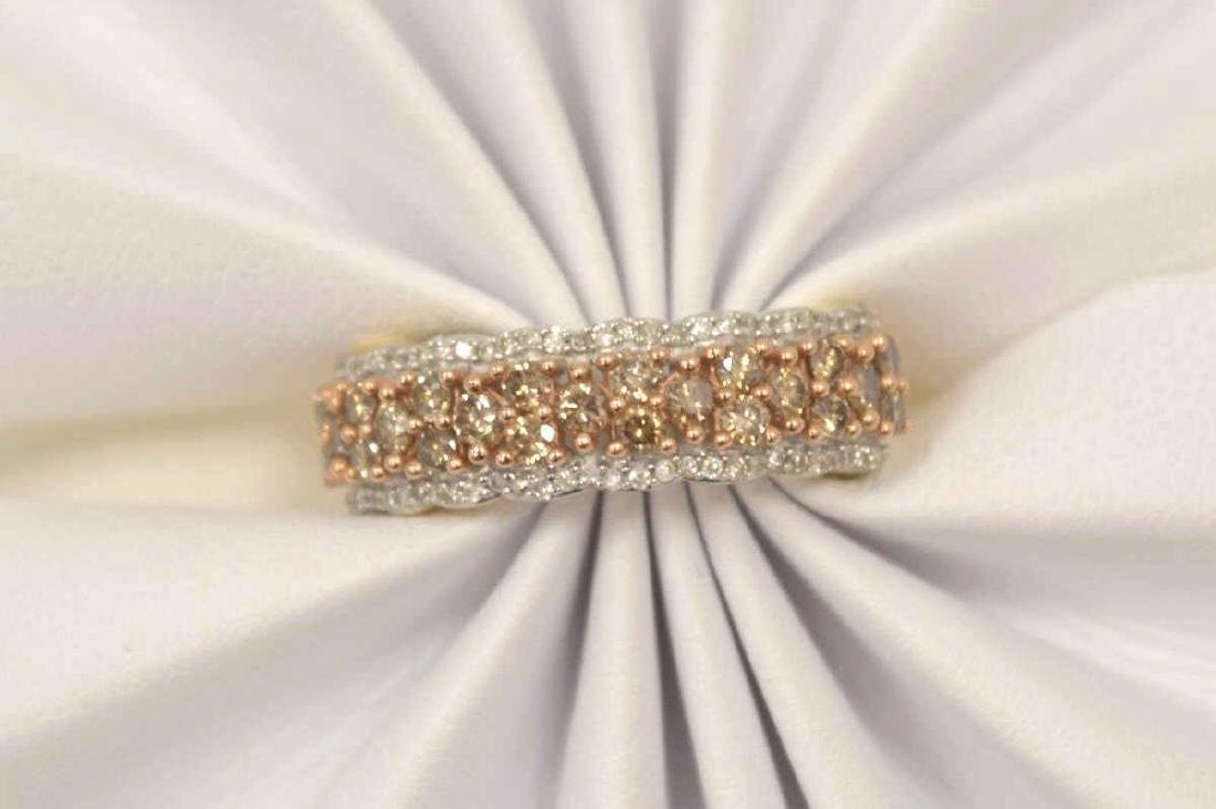 10kt yellow gold diamond fashion band - 5