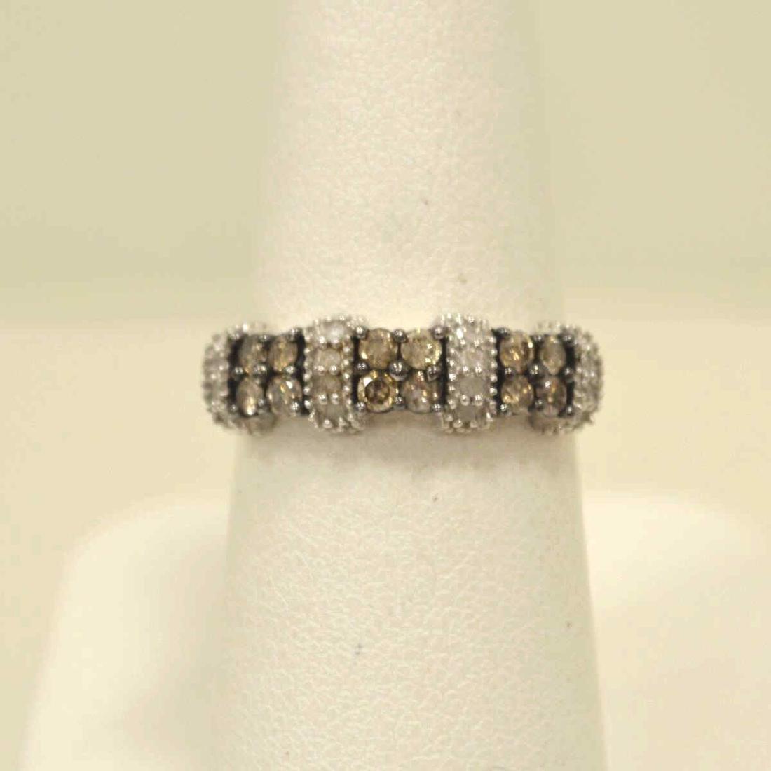 10kt white gold diamond fashion band