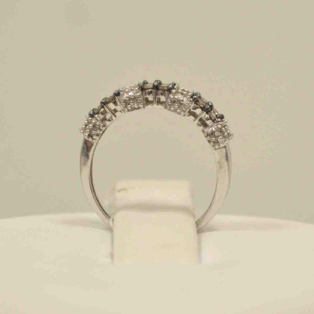 10kt white gold diamond fashion band - 3